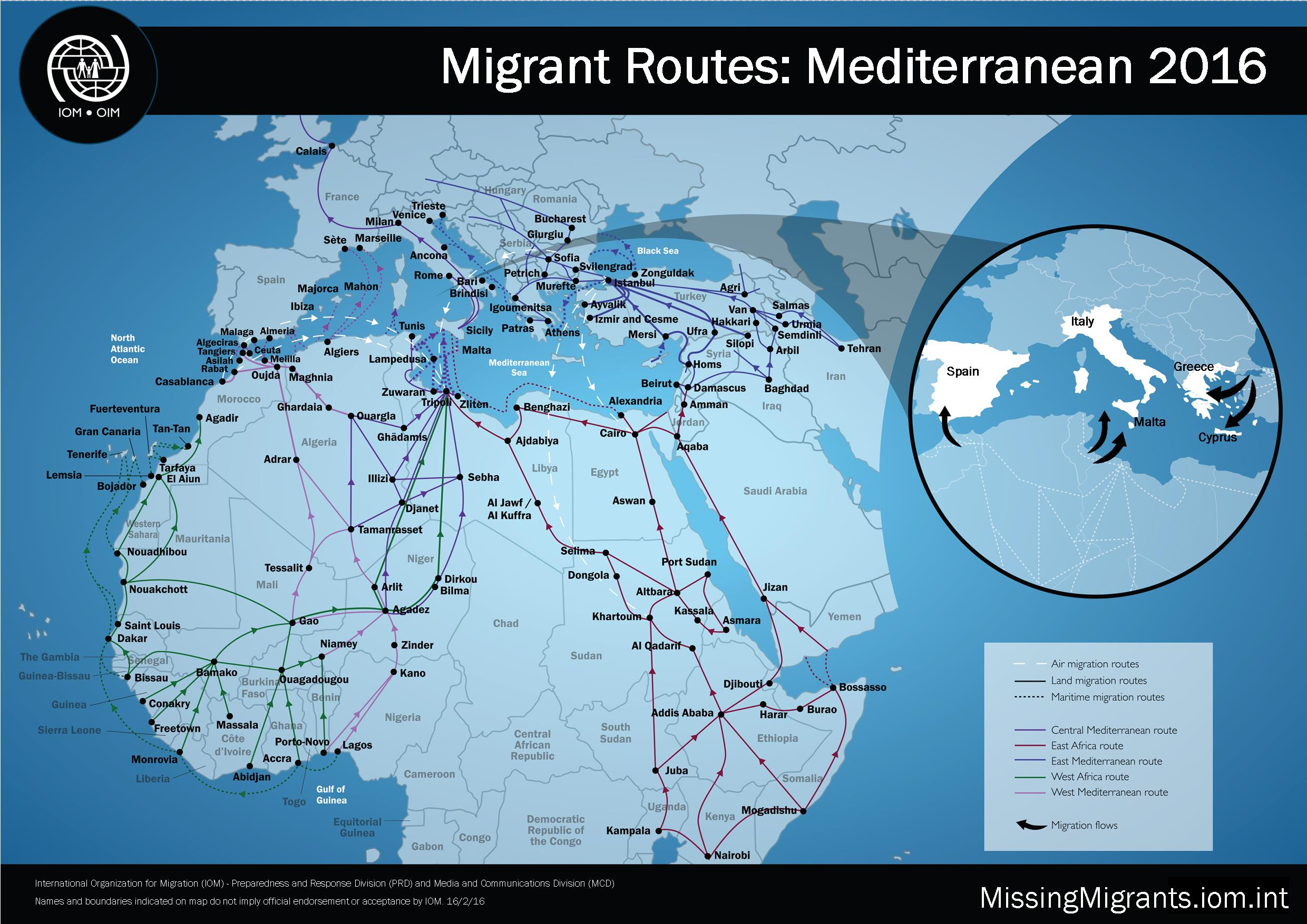 Migrant Routes IOM