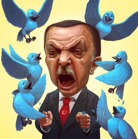 erdogan twitter war