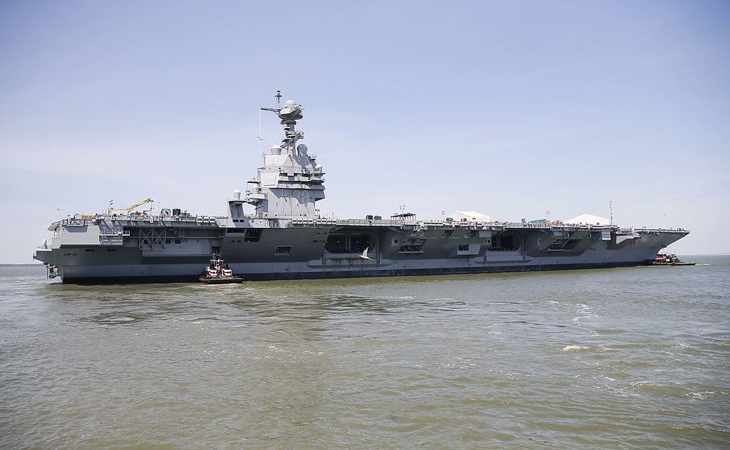 USS Gerald R. Ford CVN 78 on the James River on 11 June 2016 copy