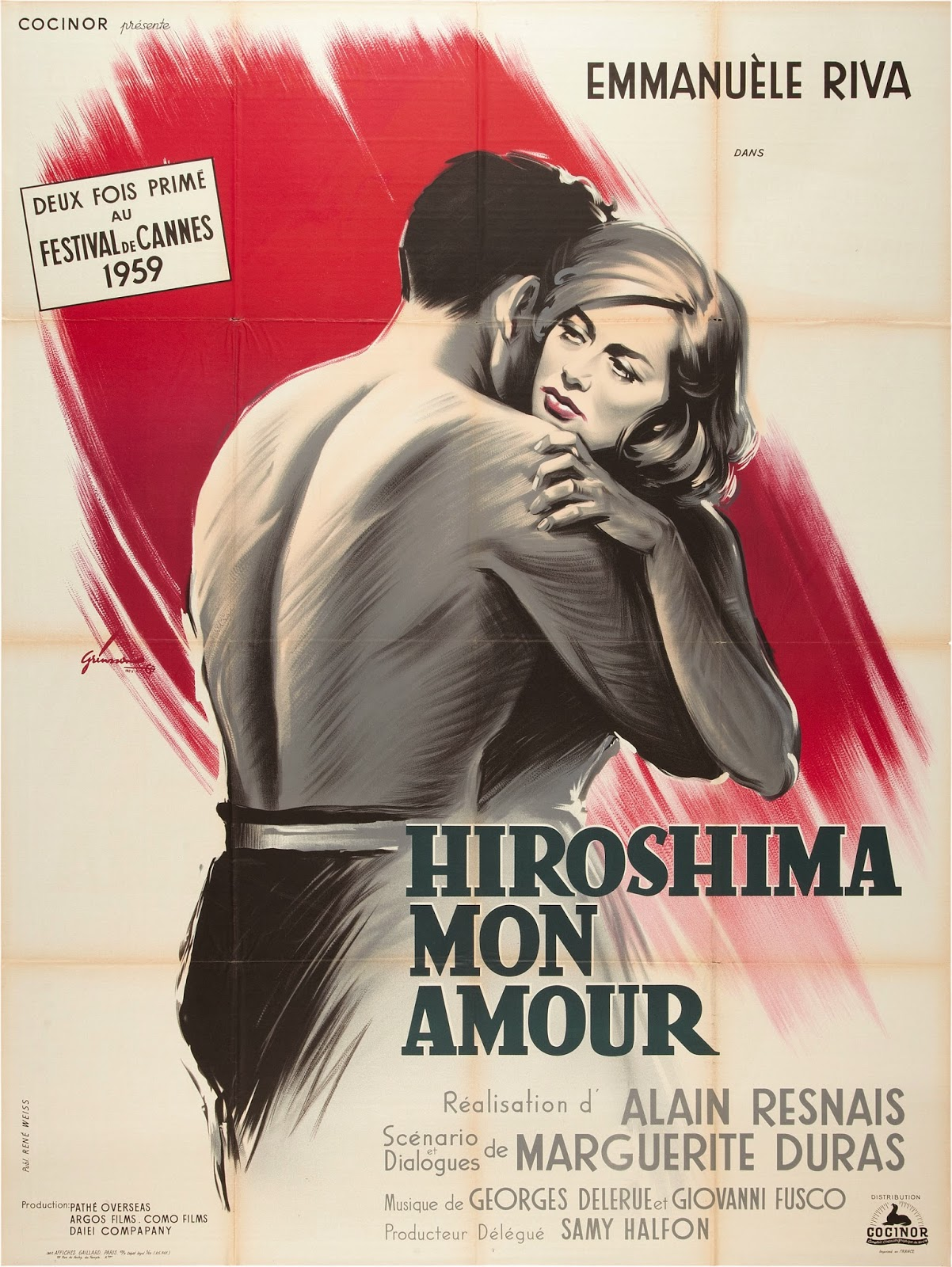 HIROSHIMA MON AMOUR French Poster by Boris Grinsson