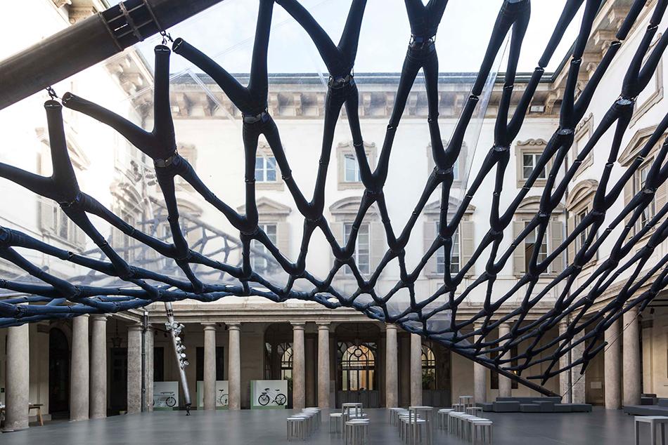 diller scofidio renfro off the cuff jean canopy palazzo litta milan design week designboom 02