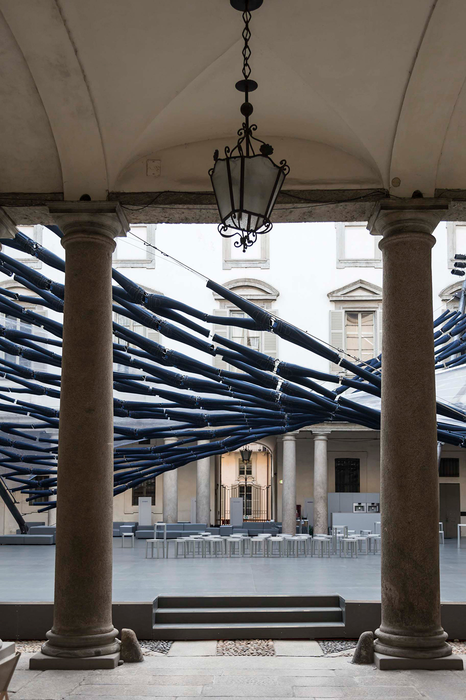 diller scofidio renfro off the cuff jean canopy palazzo litta milan design week designboom 03