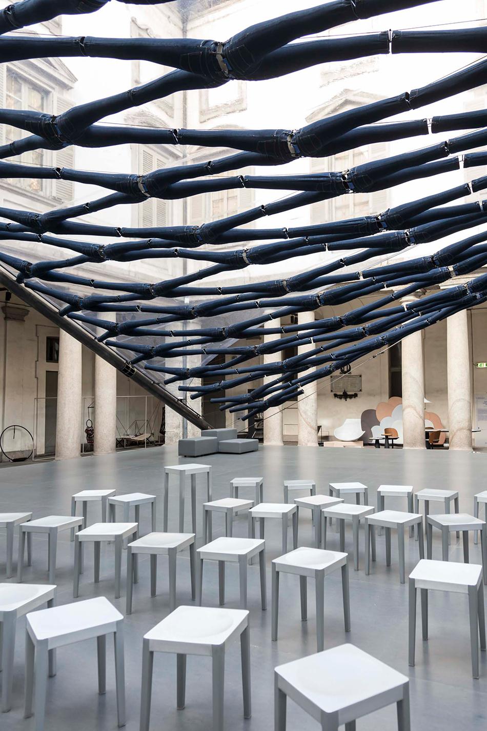 diller scofidio renfro off the cuff jean canopy palazzo litta milan design week designboom 05