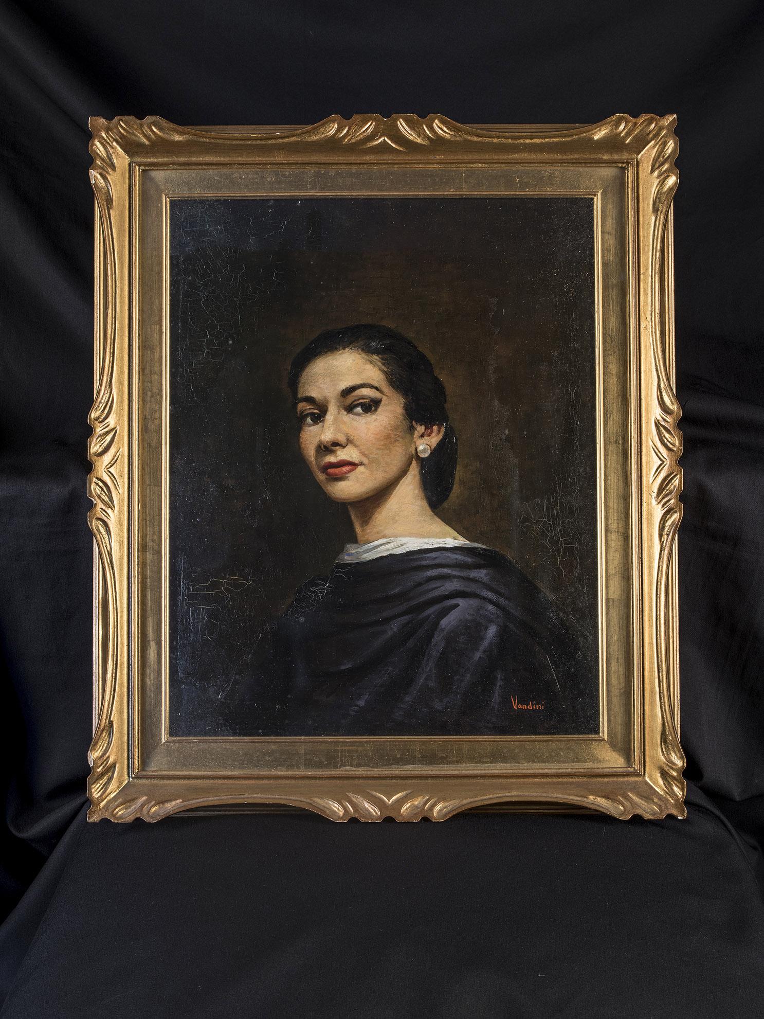 65a1350fa387 Ο πίνακας αυτός αποτελεί το πρώτο πορτραίτο – από τα 7-8 που διέθετε η  Κάλλας– και κοσμούσε