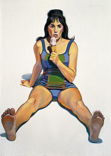 thiebaud girl with ice cream cone 2
