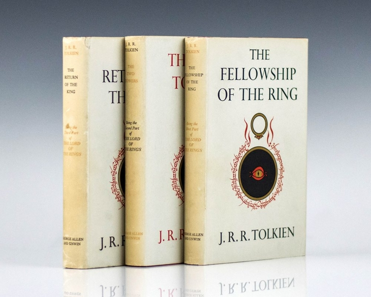 the lord of the rings trilogy the fellowship jrr tolkien first edition