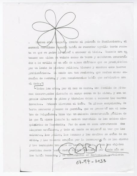 gabriel garcia marquez typescript from 100 years of solitude