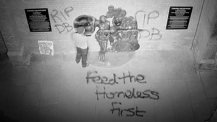 bowie vandalized