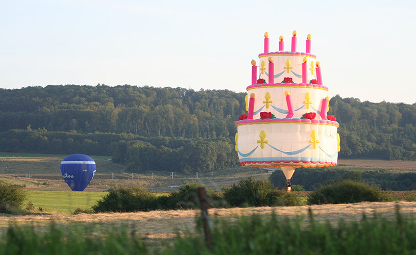 Balloon fiesta birthday cake