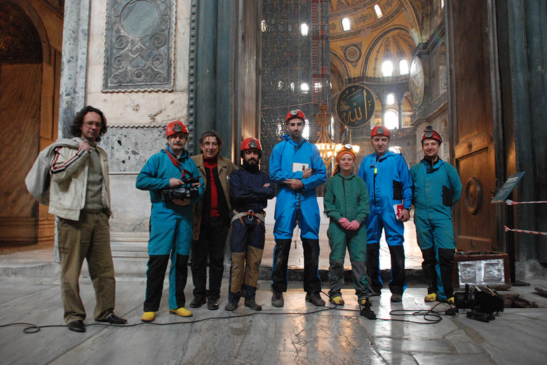 beneath the hagia sophia team