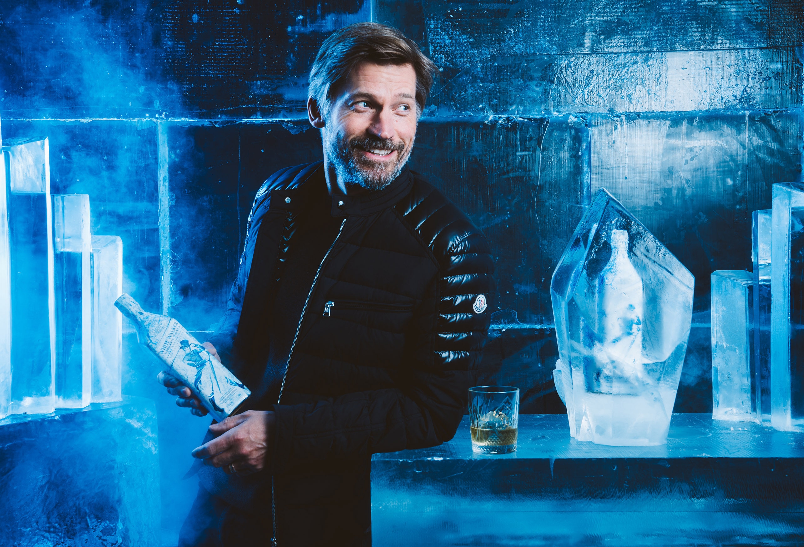 Game of Thrones star Nikolaj Coster Waldau enjoys an exclusive first sip of the new limited edition White Walk 2
