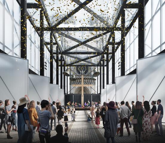 gensler designs temporary worship space for notre dame paris dezeen 2364 col 2