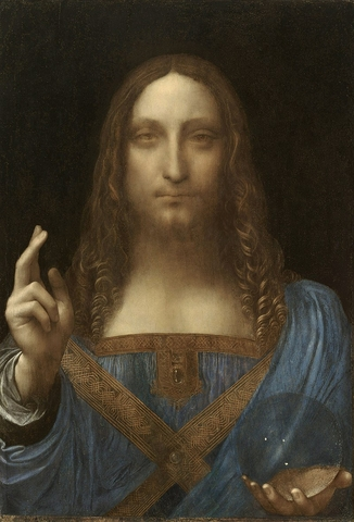 800px Leonardo da Vinci Salvator Mundi c.1500 oil on walnut 45.4 65.6 cm