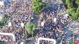 Χιλιάδες άνθρωποι έτρεξαν στον 29ο γύρο της Αθήνας