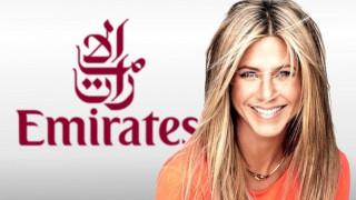 Η Τζένιφερ Άνιστον είναι η Ρέιτσελ για την Emirates Airlines
