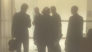 Σε εξέλιξη συνάντηση Τσακαλώτου, Σταθάκη και Χαρίτση με τον Βέρνερ Χόγιερ