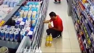 Η ώρα του σεισμού σε σούπερ-μάρκετ στην Ιθάκη