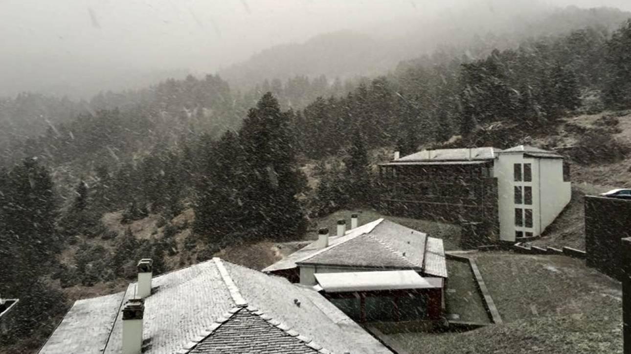 Χιονοπτώσεις και πτώση της θερμοκρασίας