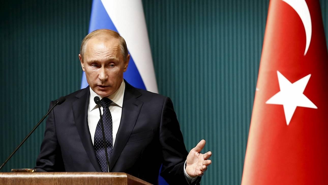 Οικονομικές κυρώσεις εναντίον της Τουρκίας υπέγραψε ο Πούτιν