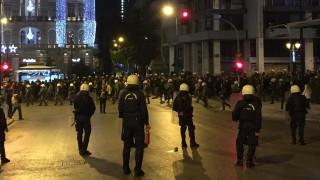 Μολότοφ και χειροβομβίδες στην πορεία των διαδηλωτών