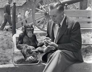 """1960. Ο Ντίσνεϊ στα γυρίσματα του """"Mr. Stubbs""""."""
