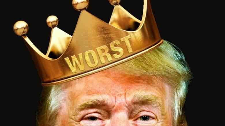 Nτόναλντ Τραμπ, ο χειρότερος άνθρωπος στον κόσμο