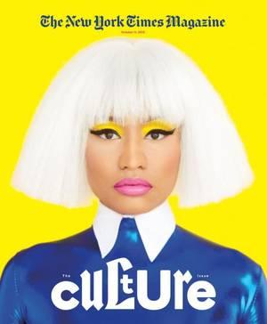 "The New York Times Magazine, Culture, Oκτώβριος 11, 2015, φωτογραφία από τον Erik Madigan Heck ""Αναθέσαμε στον Erik Madigan Heck να τραβήξει μια λήψη τη Nicki Minaj για το αφιερωματικό μας τεύχος στο Culture. Θέλαμε κάτι κομψό, κάτι στυλιζαρισμένο, να μα"