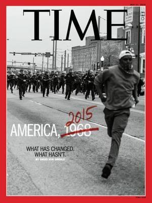 "TIME, Mάιος 11, 2015, φωτογραφία από τον Devin Allen. ""Ένα εξώφυλλο πραγματικά εικονικό. Ένα όνειρο για μένα τον ίδιο αλλά και για την πόλη μου, μια φωτογραφία που δείχνει ότι και οι πιο ασήμαντοι άνθρωποι μπορούν να αλλάξουν τον κόσμο. Το εξώφυλλο του T"