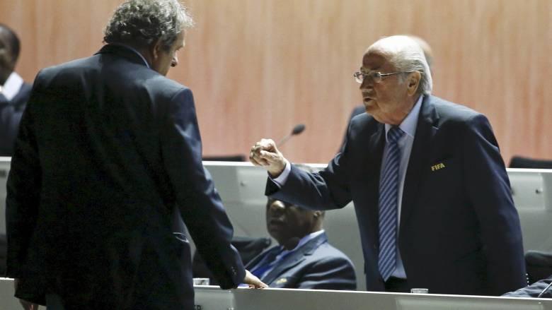 Σκάνδαλο FIFA: Οκτώ χρόνια αποκλεισμού σε Μπλάτερ και Πλατινί