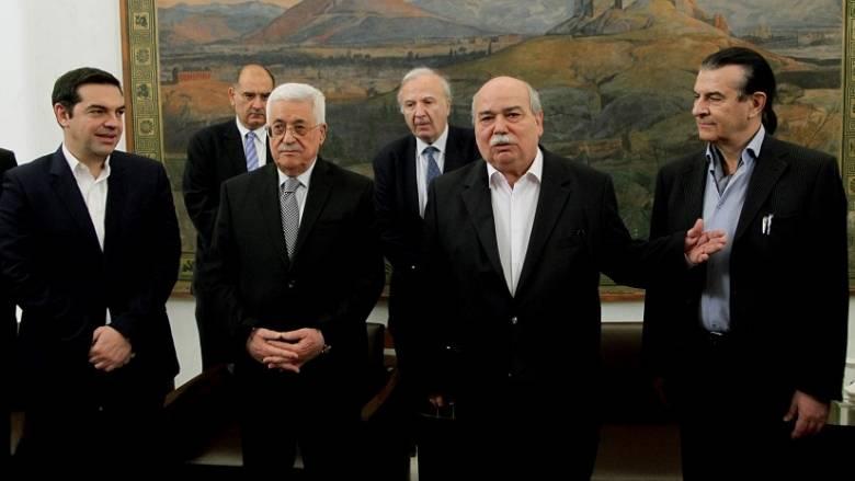 Ο Μαχμούτ Αμπάς στη Βουλή