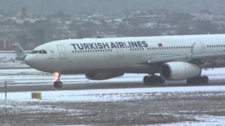 Προβλήματα στις πτήσεις της Turkish Lines από τις χιονοπτώσεις