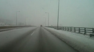 Πυκνό χιόνι στις Σέρρες