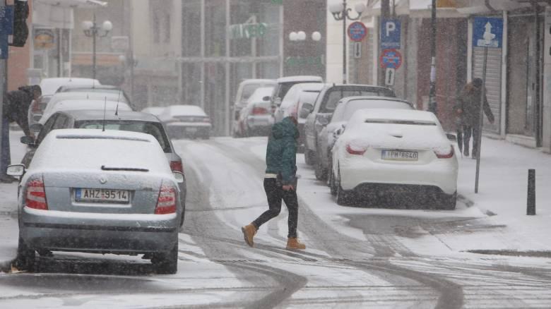 Βόρεια Ελλάδα: κρύο και δυσκολία στις μετακινήσεις από τις χιονοπτώσεις