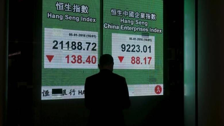 «Βουτιά» 7% για το κινεζικό χρηματιστήριο και διακοπή συνεδρίασης