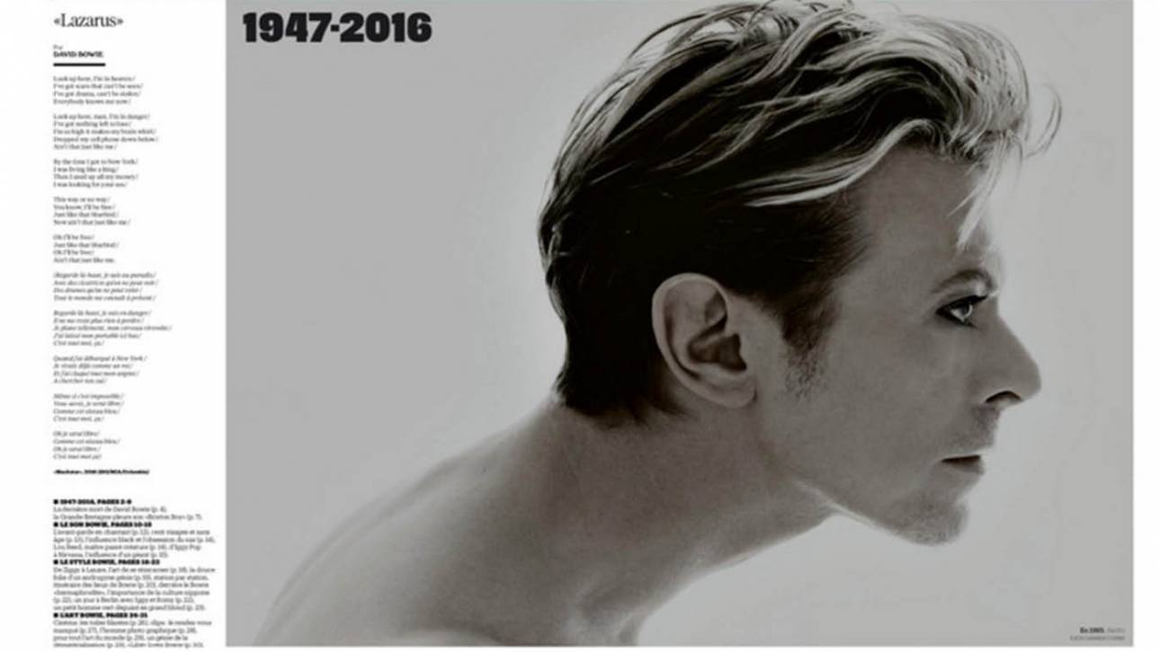 Libération, The Guardian, The Times. Tα καλύτερα πρωτοσέλιδα του διεθνή τύπου για τον Bowie