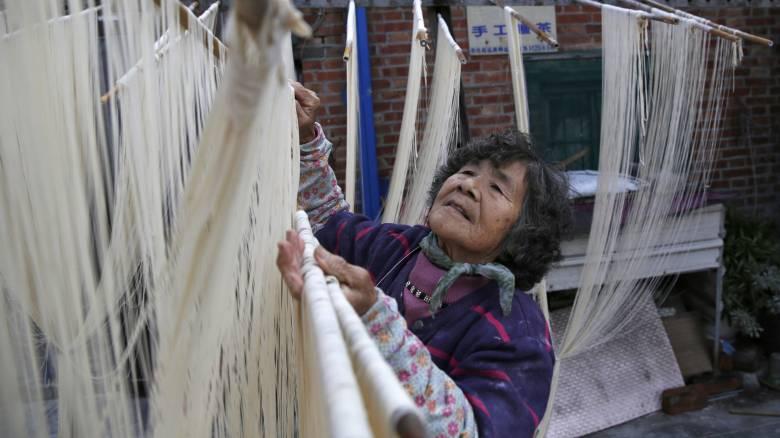 Φτιάχνοντας noodles στην Ταϊβάν