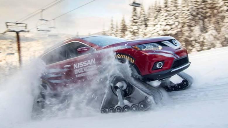 Με ερπύστριες αντί για τροχούς το Nissan Rogue Warrior πάει παντού