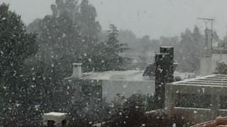 Χιονοπτώσεις στην Αττική έως την Τρίτη