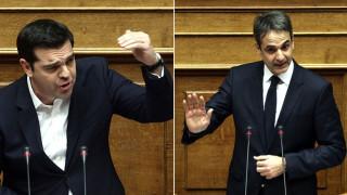 Ασφαλιστικό: Σφοδρή σύγκρουση στη Βουλή Τσίπρα και Μητσοτάκη