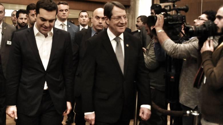 Συνάντηση Τσίπρα-Αναστασιάδη-Νετανιάχου