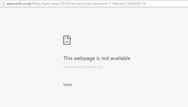 city page crashed