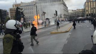 Απεργία 4 Φεβρουαρίου: Επεισόδια στο τέλος της πορείας
