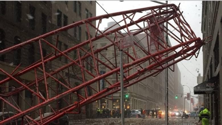 Νέα Υόρκη: Κατέρρευσε γερανός κατασκευών στο Μανχάταν