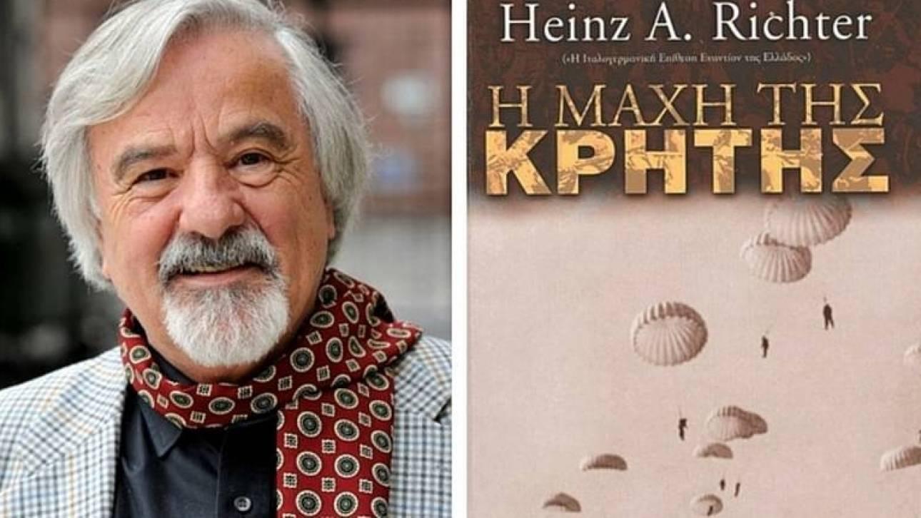 Αθωώθηκε ο γερμανός ιστορικός Χαίντς Ρίχτερ για το βιβλίο του για την μάχη της Κρήτης