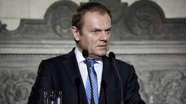 Τουσκ: «Ο αποκλεισμός της Ελλάδας από τη Σένγκεν δεν είναι λύση»
