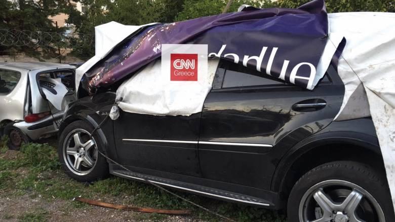 Αποκλειστικές εικόνες από το κατεστραμμένο όχημα του Παντελή Παντελίδη