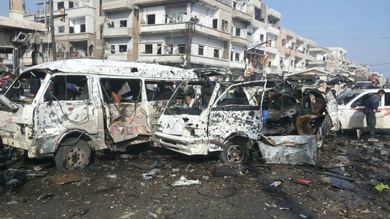 Πολύνεκρη βομβιστική επίθεση στην πόλη Χομς της Συρίας
