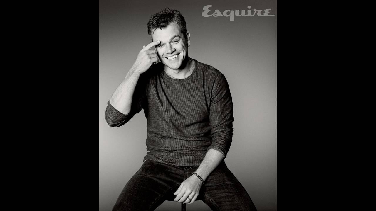 O Matt Damon φωτογραφημένος από τον Max Vadukul για το περιοδικό Esquire