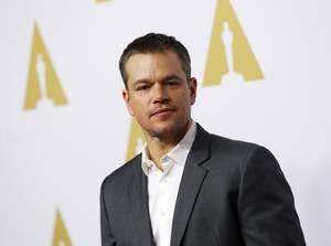 O Matt Damon στο photocall της ανακοίνωσης των υποψηφίων για τα φετινά Όσκαρ