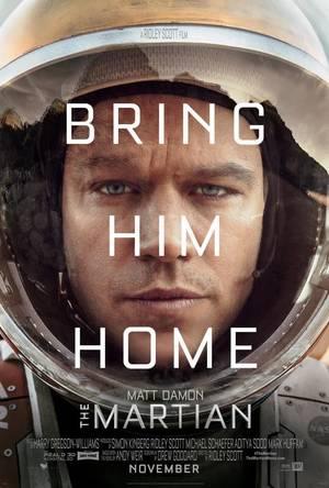 O Matt Damon στο poster της ταινίας «The Martian»